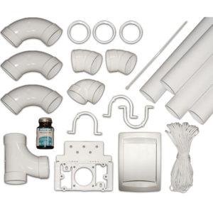 Kit d'installation Duovac pour 1 prise d'aspiration avec tuyaux PVC