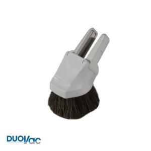 Brosse combo Duovac à époussetage - capitonnage gris en crin ACC-56-GY