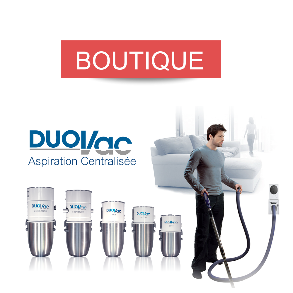 Boutique Officielle DUOVAC : Accessoires de centrales d'aspiration